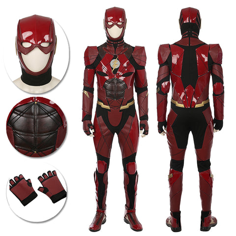 The Flash Cosplay Costumes Justice League Movie Level Red Suits