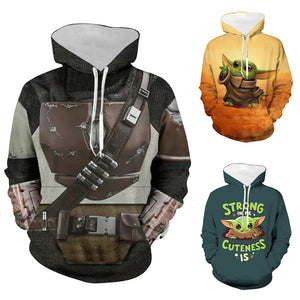 The Mandalorian Hoodies Star Wars Mandalorian Cosplay Hooded Sweatshirt For Adults