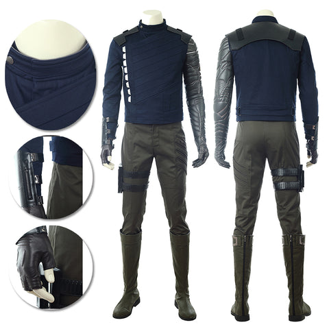 The Winter Soldier Cosplay Costumes Classic Bucky Barnes Suits