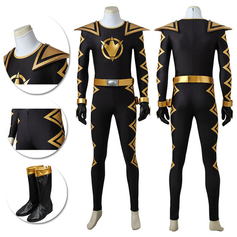 Tommy Oliver Black Ranger Cosplay Costume Power Rangers Dino Thunder Suit