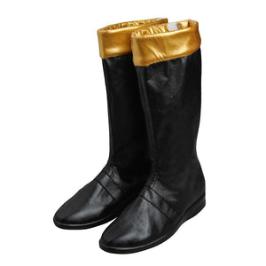 Tommy Oliver Black Ranger Cosplay Shoes Power Rangers Dino Thunder Boots