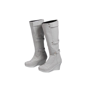 White Canary Cosplay Boots Legends of Tomorrow Sara Lance Movie Level Shoes