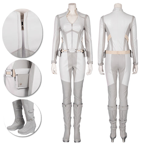 White Canary Cosplay Costumes Legends of Tomorrow Sara Lance Movie Level Suit