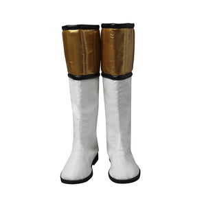 White Ranger Cosplay Shoes Mighty Morphin Power Rangers Boots