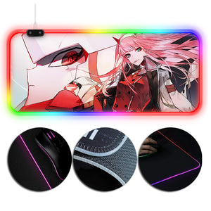 DARLING in the FRANXX Mouse Pad Zero Two Printed RGB Gaming Mouse Pad