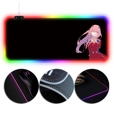 DARLING in the FRANXX Mouse Pad Zero Two Printed RGB Gaming Mouse Pad V2