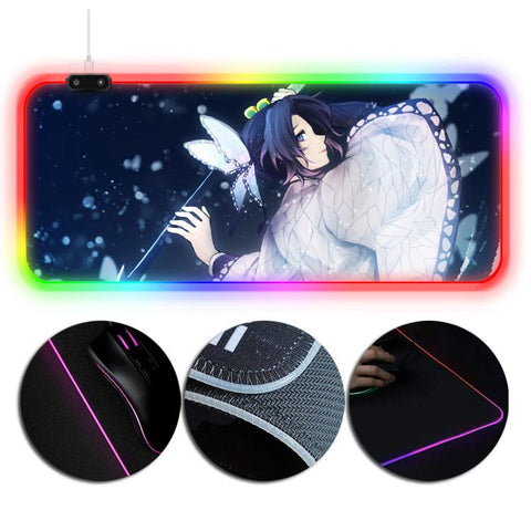 RGB Extended Mouse Pad Demon Slayer Insect Pillar Shinobu Kocho Printing