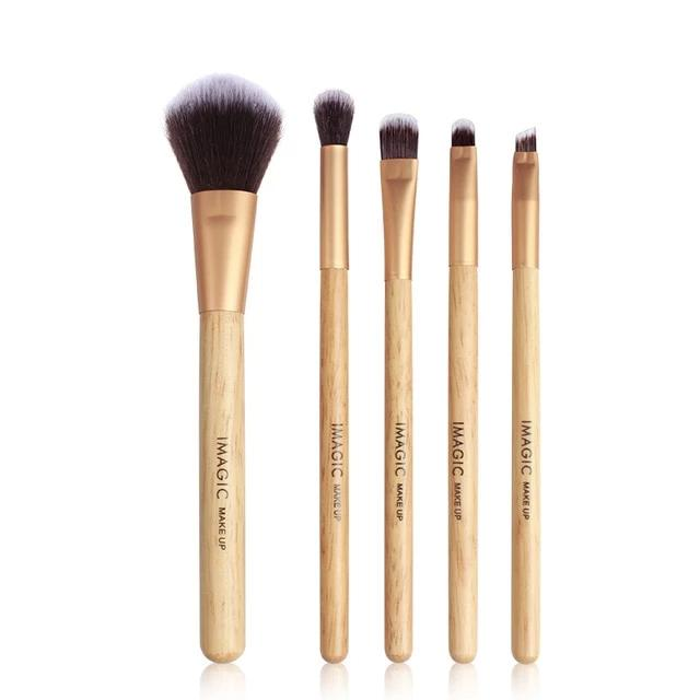 5 Piece Wooden Makeup Brushes