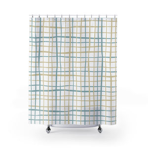 Open image in slideshow, Coastal Lines Shower Curtain