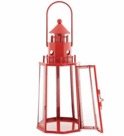 Red Nautical Candle Lantern