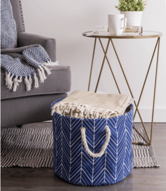 Nautical Herringbone Hamper