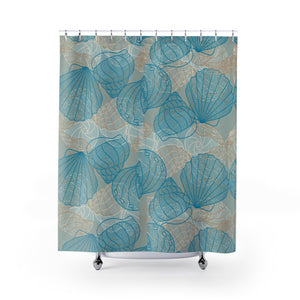Open image in slideshow, Coastal Seashells Shower Curtain