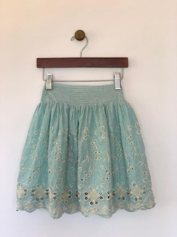 rae skirt in aqua