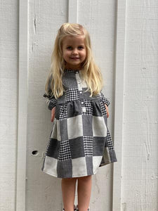 nikki dress in charcoal