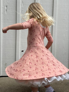 annie dress rose dandelion - reversible
