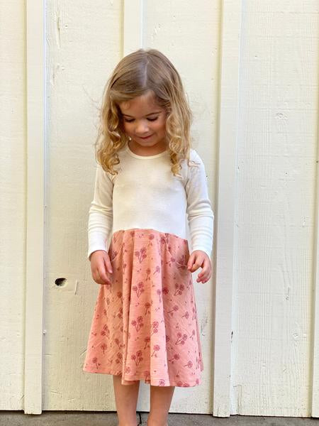 merilee dress in rose dandelion