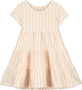 iona dress in creamsicle