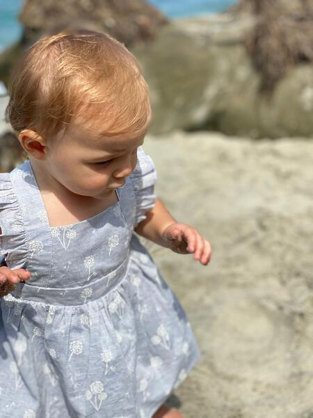 maeve dress in blue dandelion