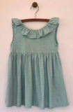 bella dress in aqua heathered