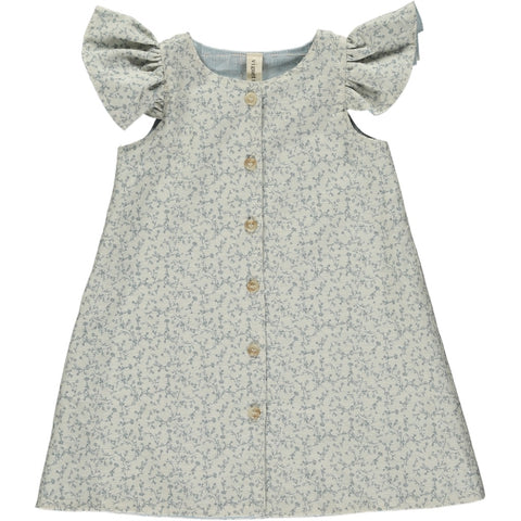robin dress in sky floral ... reversible