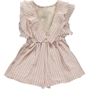 sandy romper in cherry stripe