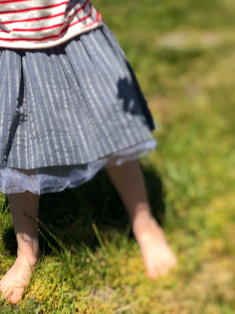 hazel skirt in navy ... reversible
