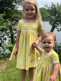 rylie dress in lemon