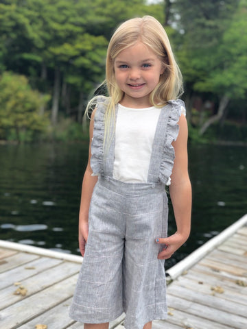 piper overalls in dove