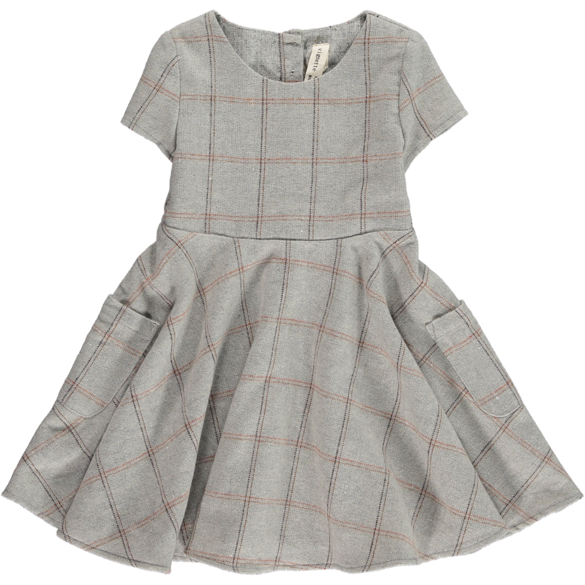 debbie dress in frost plaid
