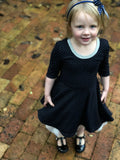annie dress in dark navy ... reversible