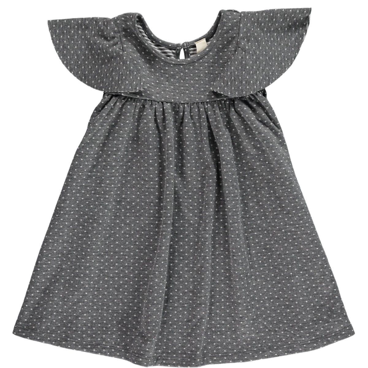lottie dress in charcoal