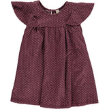 lottie dress in burgundy