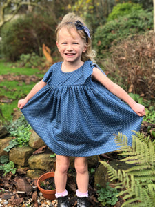 lottie dress in navy