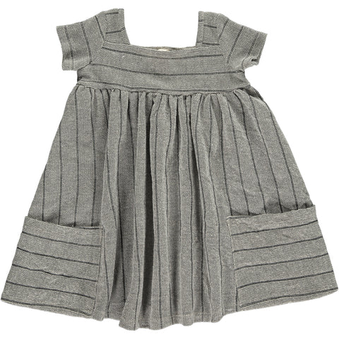 rylie dress in charcoal loopback