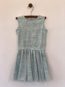 london dress in aqua