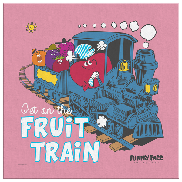 Get on the Fruit Train Canvas