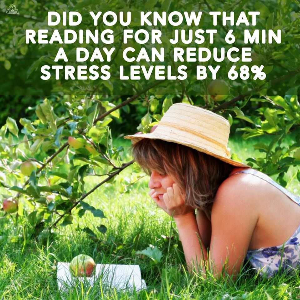 Relieve stress with reading