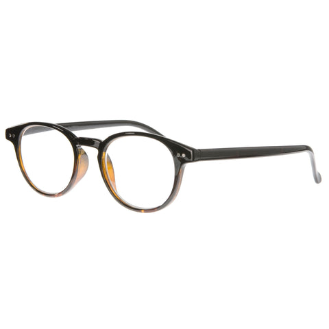 bronze classic round reading glasses