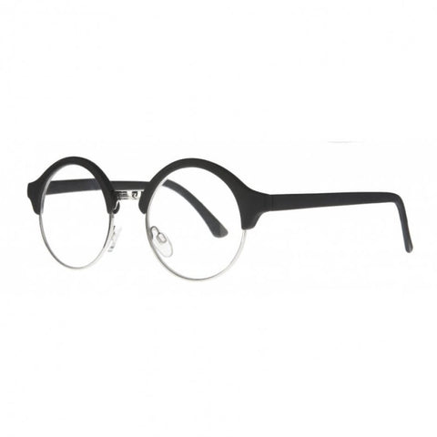 black round clubmaster reading glasses