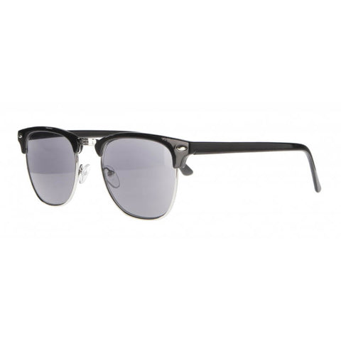 clubmaster black silver reading sunglasses