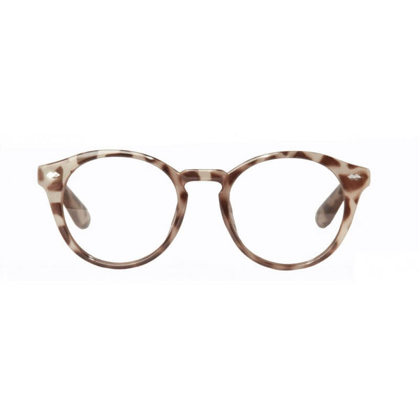 leopard round reading glasses
