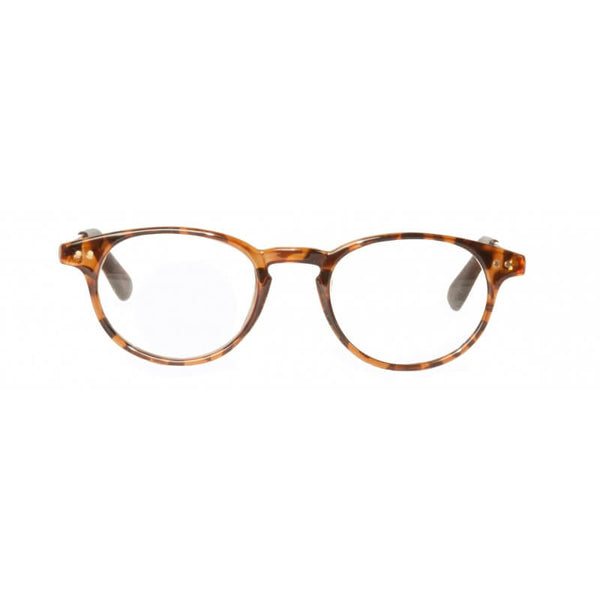 tortoiseshell & gold classic round reading glasses