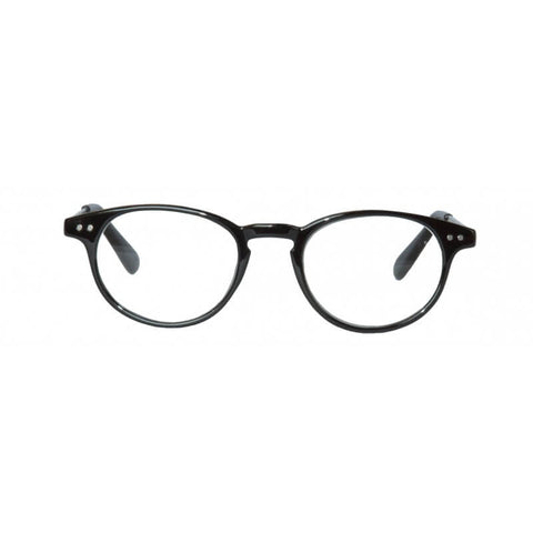 black classic round reading glasses