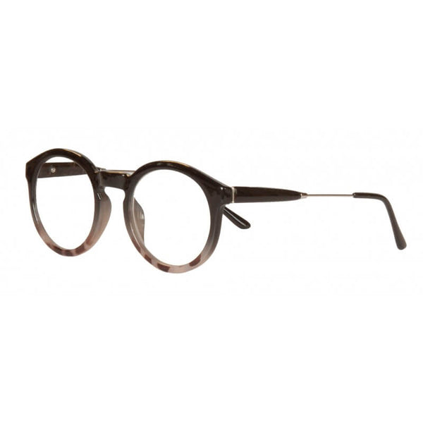 clear smoke round reading glasses