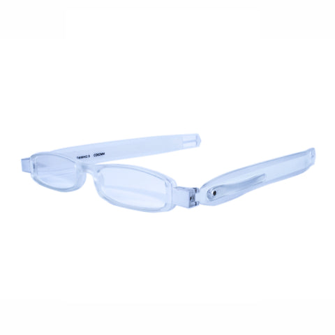 white twisties folding reading glasses