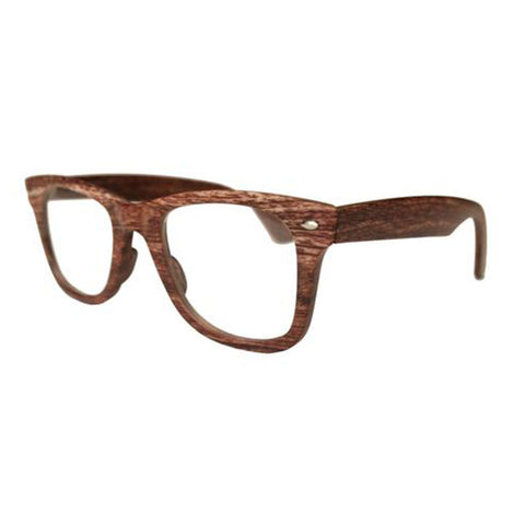 wood effect wayfarer reading glasses