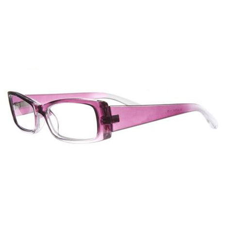 clear pink half eye reading glasses