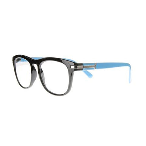 gloss black turquoise wayfarer reading glasses