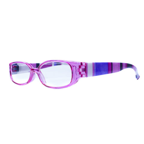 purple half moon reading glasses