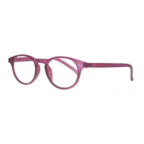 raspberry classic round reading glasses